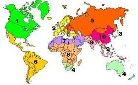 Ten World Regions