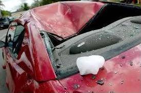 Hail Damaged Car