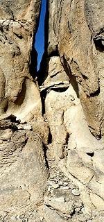 split in Wyatt's rock
