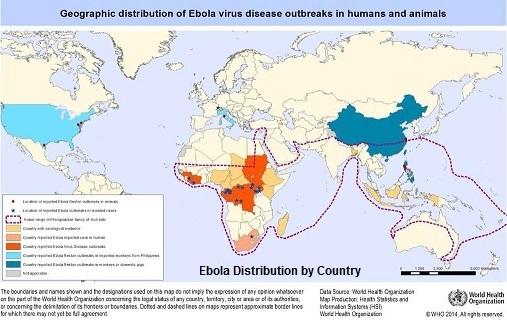 Ebola distribution